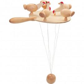 Dziobiące kurczaki – Zabawka tradycyjna