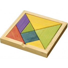 Puzzle drewniane Tangram Kolorowy