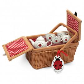 Ladybug Teaset Basket