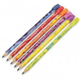 Pachnące Ołówki HB z Gumką Scentos - 6szt