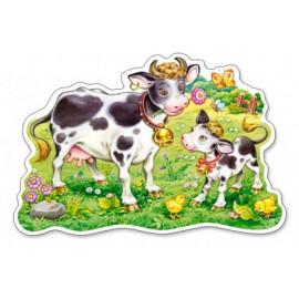 Krówka z mamą – Puzzle Konturowe