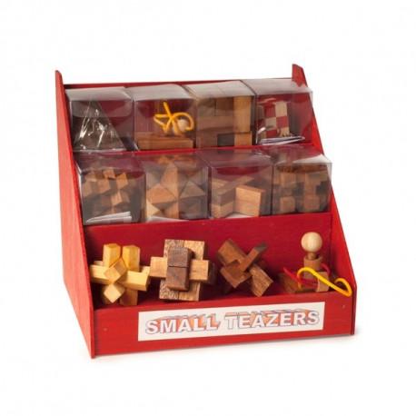 Łamigłówki drewniane - Puzzle - zestaw 12 sztuk