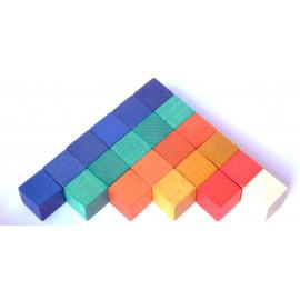 102 Drewniane Sześciany - kolorowe - liczmany gracjana
