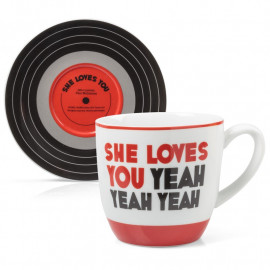 L&M CUP AND SAUCER - SHE LOVES YOU